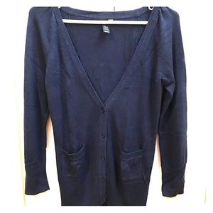 H&M Blue Button Up Cardigan